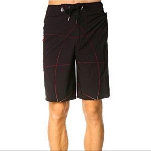 Volcom Dingo Annihilator Boardshort Red and Black